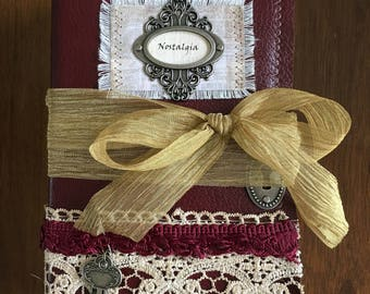 Nostalgia Fabric Cover (Faux Leather) Journal