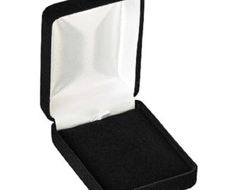 Velour Necklace Jewelry Box (Wholesale pricing available)