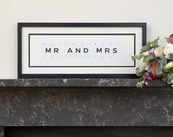 Mr And Mrs Vintage Frame by VINTAGE PLAYING CARDS