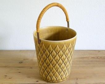 Vintage Relief Kronjyden ice bucket.Relief Jens Quistgaard.IHQ JHQ.Barware.Vase.Danish mid century modern.Stoneware.Nordic home.
