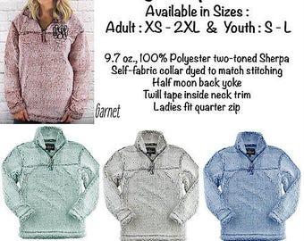 Sherpa Pullover, quarter zip sherpa pullover, quarter zip sweatshirt, monogram sherpa pullover, monogram pullover