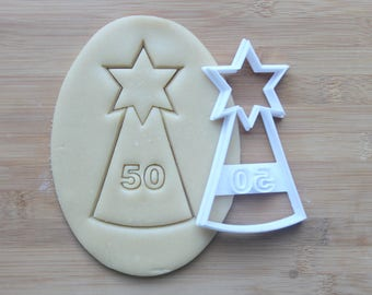 Personalized Birthday Party Hat 3D Printed Cookie Cutter | Choose your number