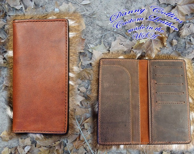 Leather Roper Wallet, Checkbook Wallet