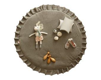 Play mat / Kids play mat / Baby round mat / Padded baby mat / Padded play mat / Deep Blue play mat / Kids rug