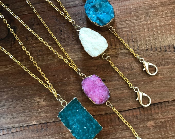 Druzy Lanyard School Supplies Teacher Lanyard Student ID Badge Holder Corporate Gifts Work Badge Nurse Flight Attendant Coworker Employee