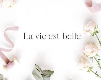 La Vie Digital Print