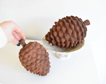 Decorative Faux Pine Cones-Large Faux Pine Cone-Pine Cone Bowl Filler-Rustic Home Accents-Rustic Nursery - Pine Cone Decor - Resin Pine Cone