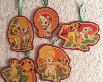 Simba and Nala-Lion King-Set of 4 Lion King Ornaments