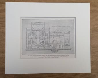 1910 The Long Island City Power Station for the Pennsylvania Railroad Company's System Original Antique Lithograph - Available Framed