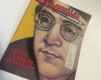 1981 Songwriter Magazine  - John Lennon Tribute  - Vintage - Beatles