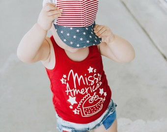 4th of July Tank, Toddler Tee, Cute Baby Shirt - Toddler Shirt, Toddler T-shirt, Baby Tank, Memorial Day, Baby T-shirt, Miss American Pie