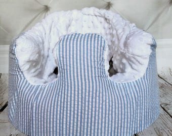 French Cottage Seersucker Bumbo Seat Cover