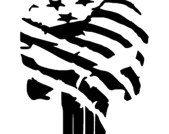 Punisher Flag Decal