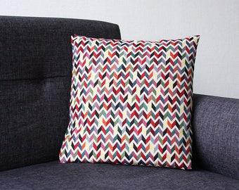 ZIG ZAG pillow cover - Multicolor 40 x 40 cm (geometric design Chevron)