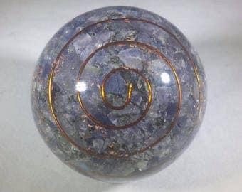 Large (60-70mm) BLUE AVENTURINE Orgone Gemstone Sphere Orgone Sphere