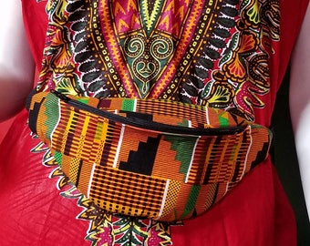 African Print fannypack