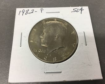 1982-p uncirculated half dollar