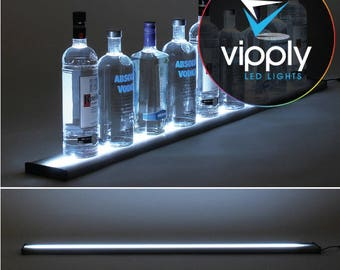 "48""  LED Bar Shelf, Bottle Display, Light Shelf, Display Shelf, Liquor Bottle Shelving"