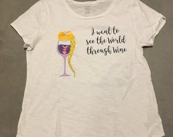 Rapunzel Wineglass Shirt