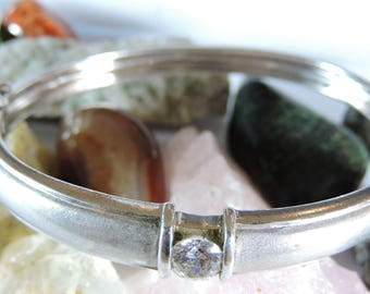 Bangle Sterling Silver Cubic Zirconia Bracelet