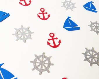 Nautical Confetti, Yacht, Anchor, Wheel, Male Birthday, Sailor, Baby Shower, Stag Party, Water Theme, Special Occasion, Pirate Style