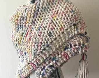 100% wool sprinkle shawl