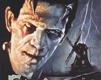 SPRING SALE: FRANKENSTEIN Movie Poster Horror Vampires Universal Monsters