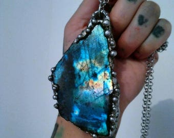 Labradorite soldered necklace