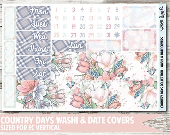 Country Days Date Covers & Washi Planner Stickers