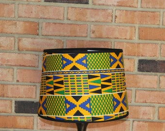African Decor- Drum Lampshade- African Home Decor- Drum Lamp Shade- African Art- Lamp shade- Custom Lampshade- Unique Lamps- Table Lamp