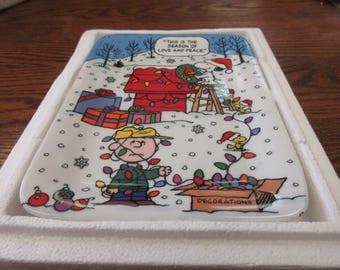 Vintage Christmas with Charlie Brown - Danbury Mint Plate #2