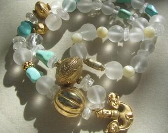 SAILOR, Necklace with semi precious stone  - Collana SAILOR  in pietre dure naturali