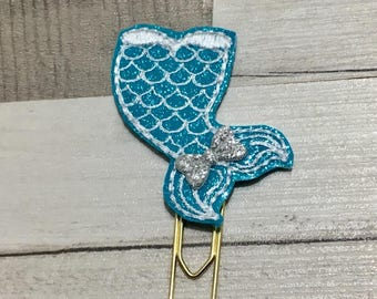 Mermaid tail paperclip, mermaid paperclip, mermaid planner clip, mermaid tail feltie