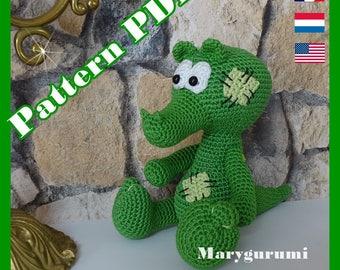 Crochet Pattern, pattern, tutorial, Amigurumi, René Crocodile