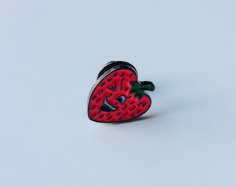 Sale | Strawberry | Fruit | Tropical | Pin | Badge | Retro | Hipster | Upcycle | Accesory | Modify