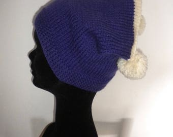 girl Hat hand knit TWEED for girl