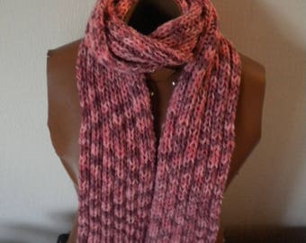 scarf is handmade in wool bamboo yarn or adult