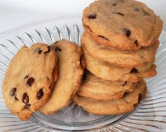 Soft and Chewy Chocolate Chip Cookies - Homemade, 1 Dozen