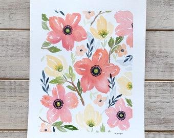 Tropical Watercolor Florals