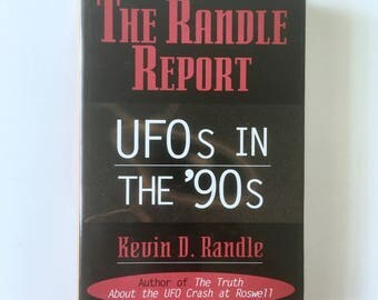 UFOs in the 90s Hardcover Book, Dust Jacket, Vintage, UFO Investigations, UFO Abduction, Case Studies, Pictures, The Randle Report