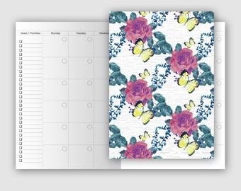 B6 Classic Monthly Undated - Traveler's Notebook Printable Insert - Mo2P