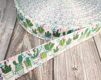 Cactus ribbon - Green plant ribbon - Succulent ribbon - Grosgrain ribbon - Crafting ribbon - Trendy ribbon - Fun ribbon - Craft supplies