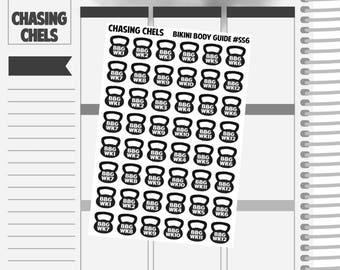 Bikini Body Guide #SS6 Premium Matte Planner Stickers