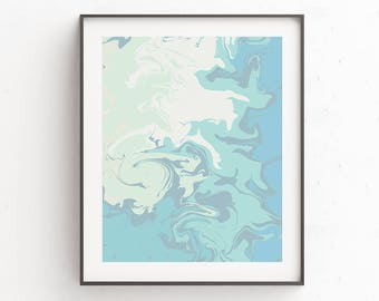 Marble Print Art, Green Gift Wife, Marble Wall Print, Blue Gift Wife, Pastel Print, Pastel Decor, 11x14, Prints, Instant Downloads, Poster