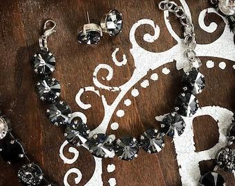 Swarovski Crystal Bracelet in Silver Night