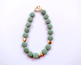 green statement necklace, green rock necklace, green necklaces for women, natural stone necklace, stone statement necklace