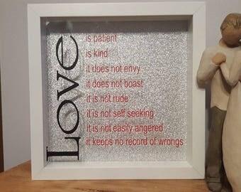 Framed Love meaning gift