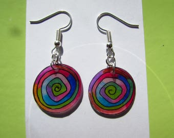 beautiful round earrings multicolored customizable