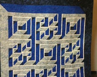 Labyrinth walk quilt | Etsy : labrynth quilt - Adamdwight.com