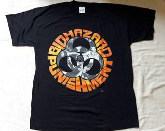 Vintage Rare 1990's Biohazard Concert Tour T Shirt. 1993 Dead Stock NOS
